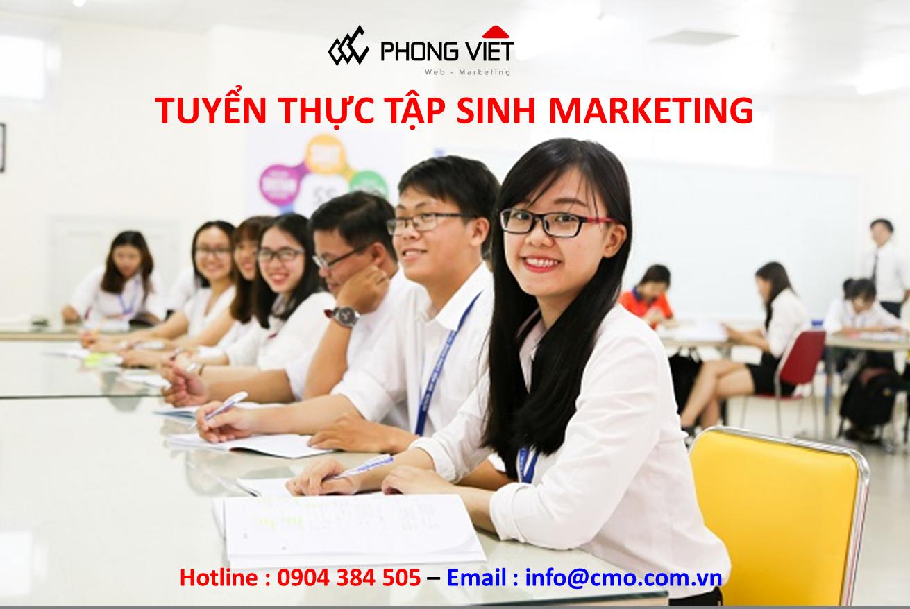 tuyển thực tập sinh marketing