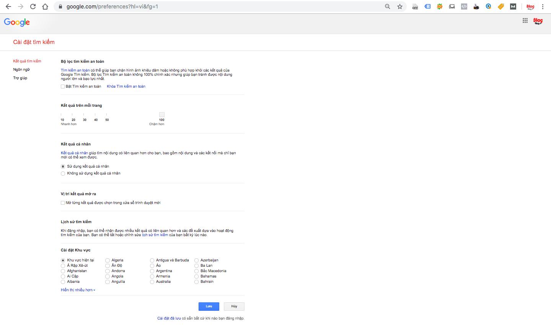Cách hiển thị 100 kết quả tìm kiếm trên google-1