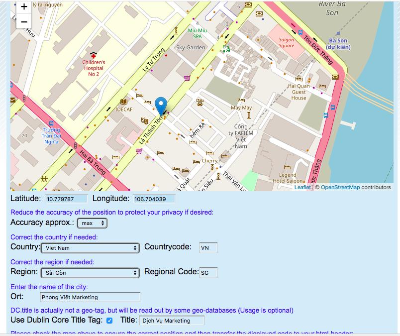 Hướng dẫn tạo thẻ Geo-Tags cho SEO Local trên website của bạn